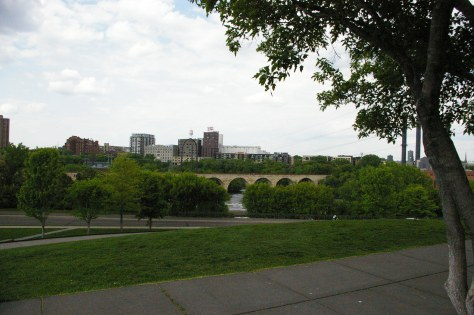 A park in Minneapolis overlooking the river.
